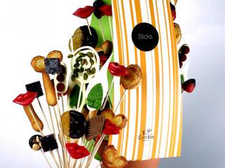 Diseño de packaging para transportar tiesto con brochetas de Orange BCN Mediterráneo