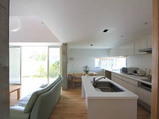 木の下のマテリアル: Kazuto Nishi Architectsが手掛けたキッチンです。