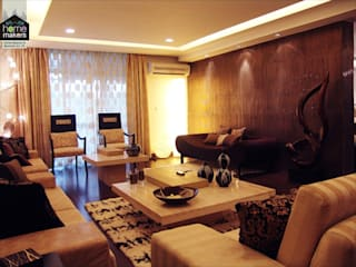 Warmth...: modern Living room by home makers interior designers & decorators pvt. ltd.