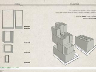progetto per temporary store Negozi & Locali commerciali in stile industrial di viabrenneroarchitettura Industrial