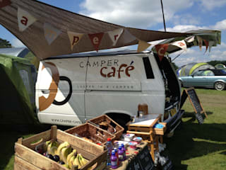 Mobile Coffee at Festivals:   by Camper  Cafe