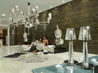 The crispness and clarity of bold Italian crystal:   by Italian Lights and Furniture Ltd