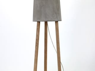 CONCRETE table/floor lamps RENATE VOS product & interior design WohnzimmerBeleuchtung