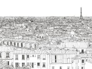 Papier peint Vue de Paris Invalides Tour Eiffel Panoramique Ohmywall Murs & SolsPapier peint