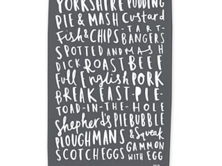 English Food Tea Towel:   by Old English Company