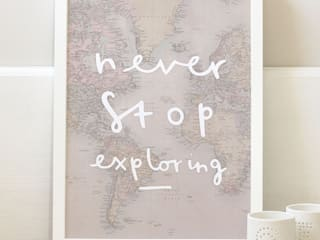Never Stop Exploring print by Old English Company
