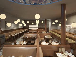 Conception d'un restaurant au centre commercial St.Laurant du var par Vizion Studio Moderne