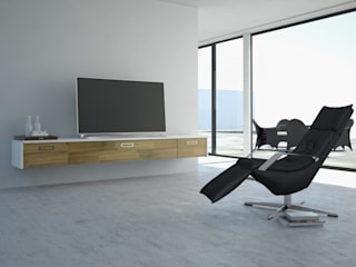 Lowboard an der Wand schwebend:   von Schnepel GmbH & Co. KG