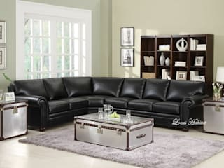 Black Leather Sofa at Your Home Locus Habitat Living roomSofas & armchairs