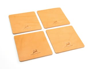 Leather Coasters Natural:   von Rothirsch GmbH