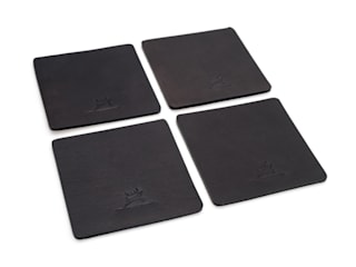 Leather Coasters Black:   von Rothirsch GmbH