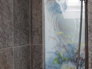 Bespoke Shower Screen:   by Michele Oberdieck Textile Design