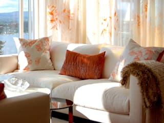 Curtain & Cushion commission for residential home in Norway. by Michele Oberdieck Textile Design