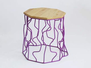 Wired stump stools:   by Peter Jakubik
