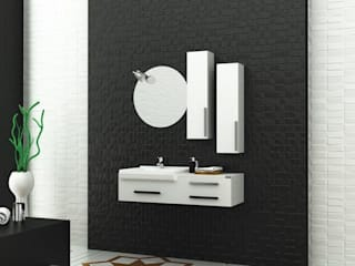 MAESTA BATHROOM FURNITURE – lucido - Maesta Bathrooms: modern tarz , Modern