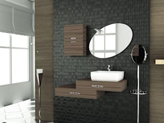 MAESTA BATHROOM FURNITURE – DESTINO - MAESTA BATHROOMS: modern tarz , Modern