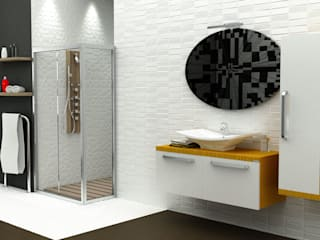 MAESTA BATHROOM FURNITURE – ORO - MAESTA BATHROOMS: modern tarz , Modern