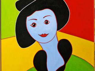 La femme au chapeau noir:  de style  par Atelier d'artiste SYRIEX RD