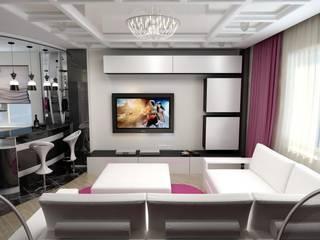 Дизайн гостиной в современном стиле. г. Невинномысск Гостиная в стиле минимализм от Цунёв_Дизайн. Студия интерьерных решений. Минимализм