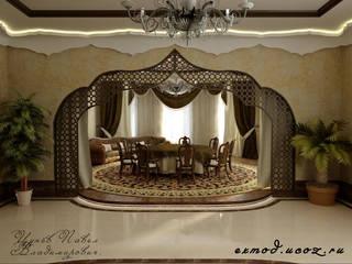 Tropical style dining room by Цунёв_Дизайн. Студия интерьерных решений. Tropical
