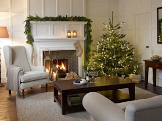Christmas Inspiration: The Tree: country Living room by LOMBOK