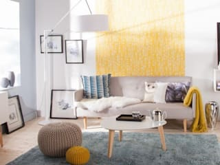 scandinavian Living room by Pernille P