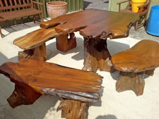 Teak Garden Furniture: rustic  by Mango Crafts, Rustic