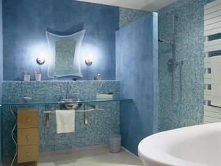 LOFT R - PARIS XI Agence d'architecture Odile Veillon / ARCHI-V.O 現代浴室設計點子、靈感&圖片