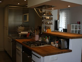 Duplex Paris 11 Cuisine industrielle par Arielle Apelbaum Sela Industriel