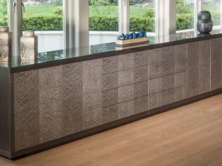 Sideboard in Charcoal grey oak and grey birdseye maple: modern  by Martin Gallagher, Modern