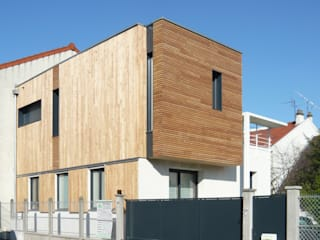 MAISON DE VILLE - Surélévation et extension en bois - près de PARIS Maisons modernes par Agence d'architecture Odile Veillon / ARCHI-V.O Moderne