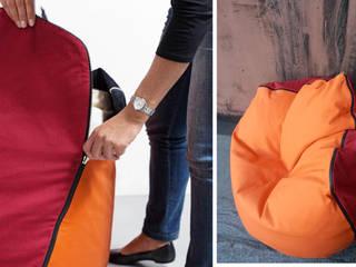 Geometrie in movimento - pouf/armchair CONKA:  in stile  di design Inmovimento
