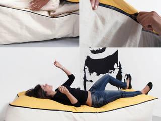 Geometrie in movimento - dormeuse /chaise longue PIPEDO: Soggiorno in stile  di design Inmovimento