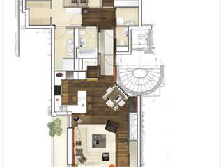 Architecture d'intérieur - Appartement en attique, Suisse Sandra Hisbèque
