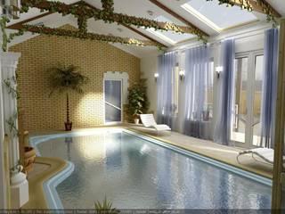 Classic style pool by Цунёв_Дизайн. Студия интерьерных решений. Classic