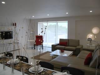 Modern living room by Gizem Kesten Architecture / Mimarlik Modern