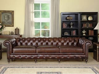 Vintage Design Living Room with Chesterfield Sofa Locus Habitat Living roomSofas & armchairs