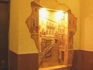Абрикос Classic style corridor, hallway and stairs