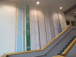 Kunst am Bau - Gymnasium Maxdorf Moderne Schulen von Wandmalerei & Oberflächenveredelungen Modern