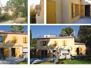 Rénovation d'une maison à Aix en Provence et aménagement du garage en cuisine contemporaine par Christophe Sarlandie Méditerranéen