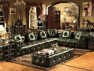 Designing your Leather Sofa in a Spacious Living Room: classic  by Locus Habitat,Classic