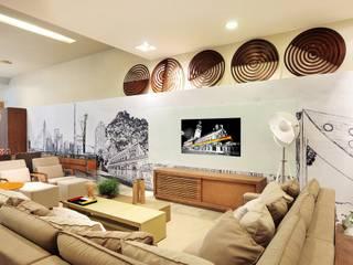 LOFT DA MULHER CONTEMPORÂNEA por Adriana Scartaris: Casas  por Adriana Scartaris: Design e Interiores em São Paulo,