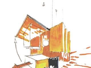 Espace Technique a Royaumont Jardin moderne par Adrien Beretti Moderne