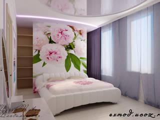 Tropical style bedroom by Цунёв_Дизайн. Студия интерьерных решений. Tropical