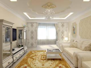 Гостиная в классическом стиле: Гостиная в . Автор – Цунёв_Дизайн. Студия интерьерных решений.