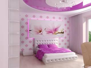 Tropical style nursery/kid's room by Цунёв_Дизайн. Студия интерьерных решений. Tropical