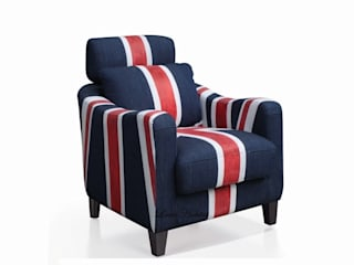 Decorating with The Union Jack Armchair   : modern  by Locus Habitat,Modern