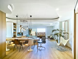 Eclectic style living room by Manuel Ocaña Architecture and Thought Production Office Eclectic