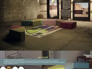 LA POUFF - sistema di sedute modulare:  in stile  di Studio Arkilab - Seby Costanzo