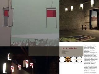 LALA 'MPARA - lampada a sospensione, da terra, da parete:  in stile  di Studio Arkilab - Seby Costanzo